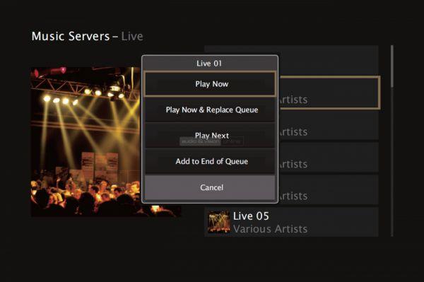 Marantz SR7012 házimozi erősítő menü Music Servers