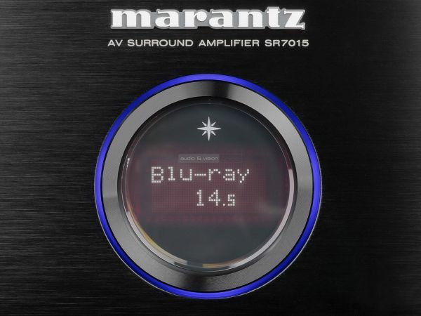 Marantz SR7015 házimozi erősítő kijelző