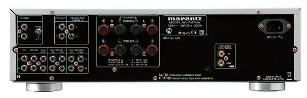 Marantz PM7004 integrált sztereó erősítő hátlap