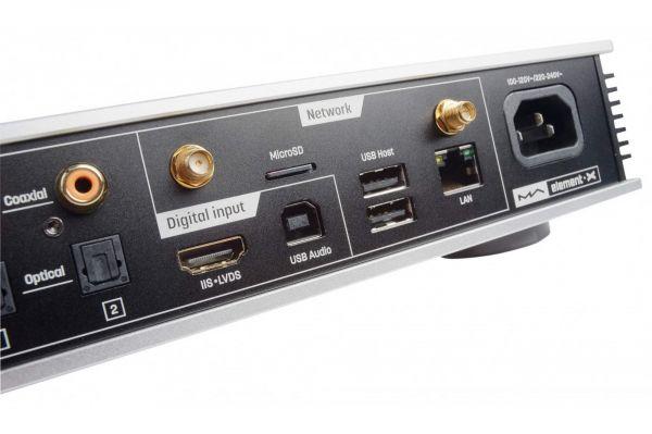 Matrix Audio element X hálózati zenelejátszó hátlap