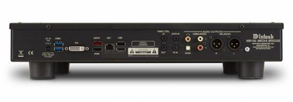 McIntosh MB100 high end hálózati audio lejátszó hátlap