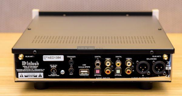 McIntosh MB50 hálózati audio lejátszó hátlap