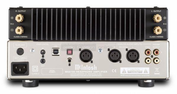 McIntosh MHA100 high end fejhallgató erősítő hátlap