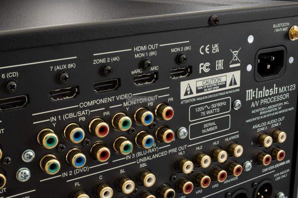 McIntosh MX123A házimozi processzor hátlap