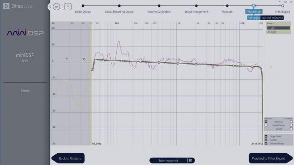 miniDSP SHD digitális audio processzor Dirac Live