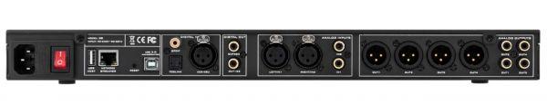 miniDSP SHD digitális audio processzor hátlap