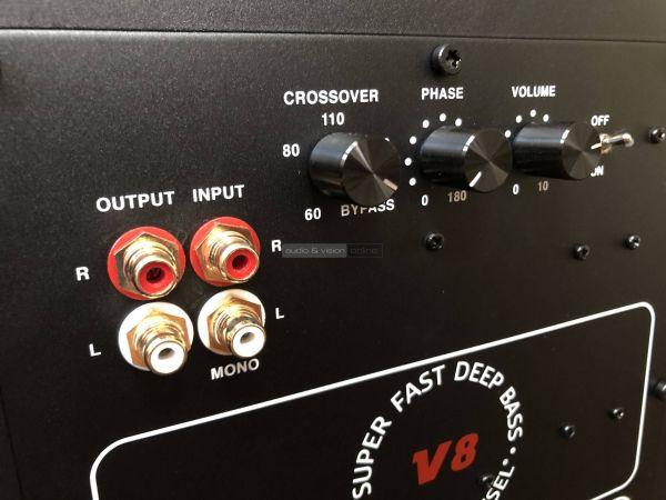 MK Sound Movie 5.1 házimozi hangfalszett V8 mélyláda hátlap