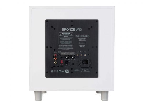 Monitor Audio Bronze W10 6G aktív mélyláda hátlap