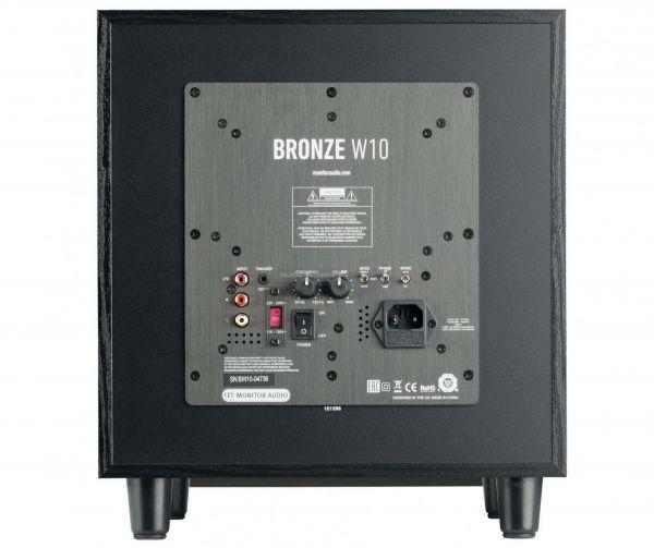 Monitor Audio Bronze W10 aktív mélyláda hátlap