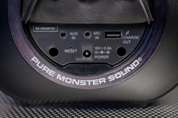 Monster Blaster BoomBox csatlakozók
