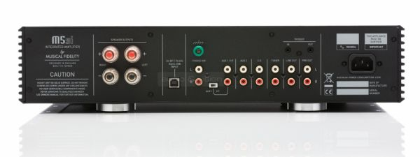 Musical Fidelity M5si integrált sztereó erősítő hátlap