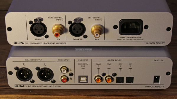 Musical Fidelity MX-DAC és MX-HPA hátlap