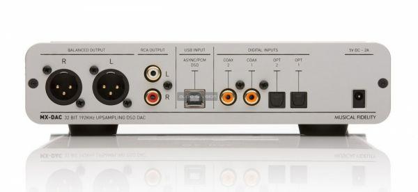 Musical Fidelity MX-DAC hátlap