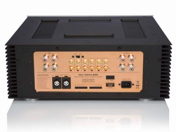 Musical Fidelity Nu-Vista 800 sztereó erősítő hátlap