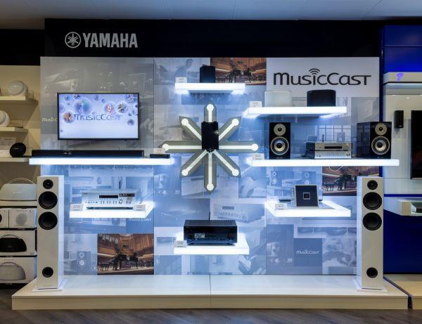 Yamaha MusicCast demó fal az Extreme Audio-ban