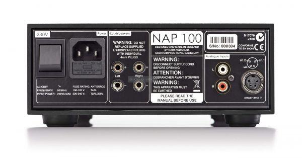 Naim NAP 100 sztereó végerősítő hátlap