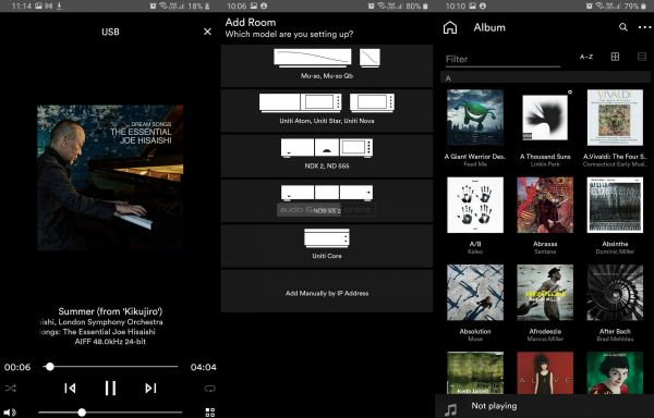 Naim Uniti Atom Headphone Edition fejhallgató erősítő App 3