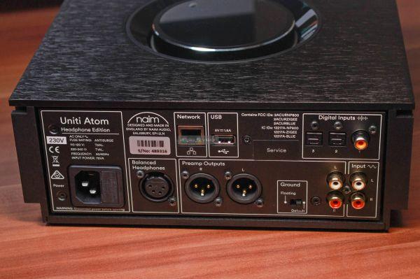 Naim Uniti Atom Headphone Edition fejhallgató erősítő hátlap