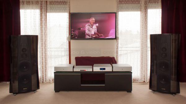 Norma Audio és Sonus faber high-end sztereó rendszer