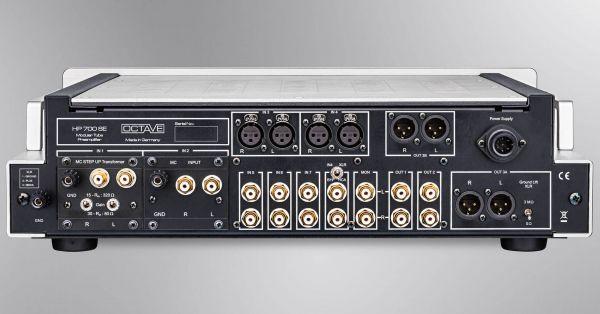 Octave HP 70 SE előerősítő hátlap