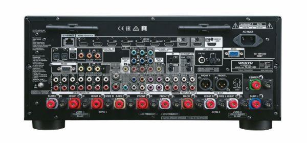 Onkyo TX-NR1030 Dolby Atmos házimozi erősítő hátlap