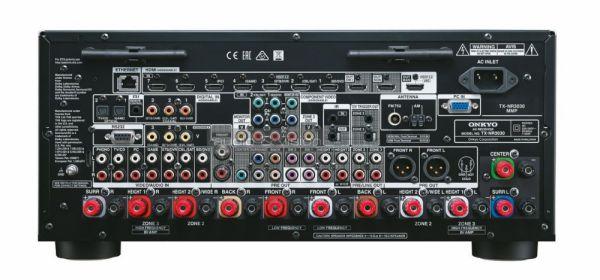 Onkyo TX-NR3030 Dolby Atmos házimozi erősítő hátlap