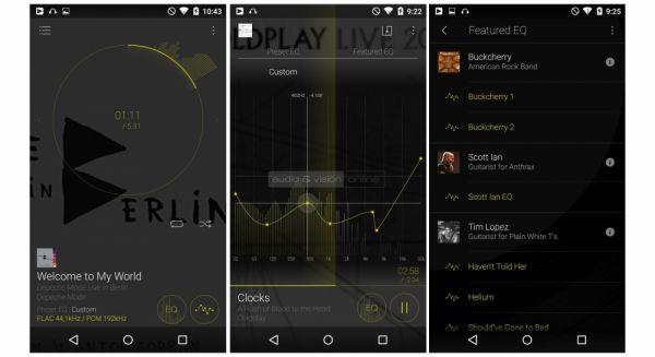 Onkyo DP-X1 mobil hifi lejátszó kijelző