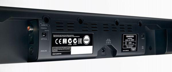 Onkyo LS-B40 és LS-B50 soundbar hátlap