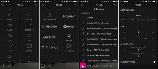 Onkyo TX-L50 házimozi erősítő App