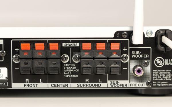 Onkyo TX-L50 házimozi erősítő hátlap - hangfal csatlakozó