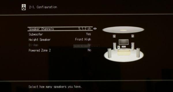 Onkyo TX-NR545 házimozi erősítő setup menü