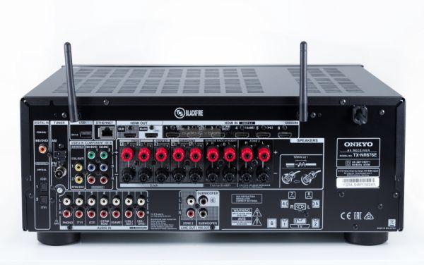 Onkyo TX-NR676E házimozi erősítő hátlap