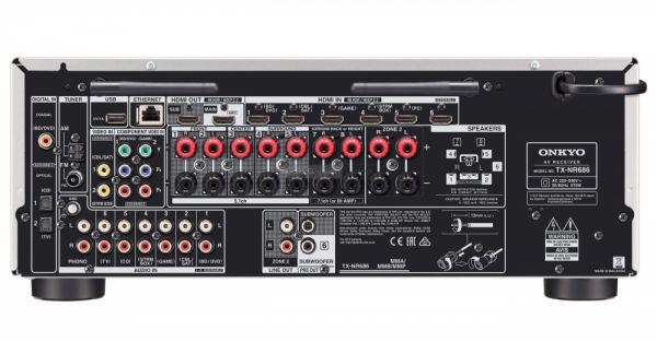 Onkyo TX-NR686 házimozi erősítő hátlap