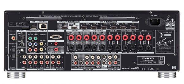 Onkyo TX-RZ730 házimozi erősítő hátlap
