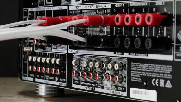 Onkyo TX-RZ830 házimozi erősítő hátlap