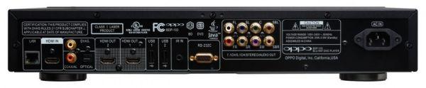 OPPO BDP-103EU 3D Blu-ray lejátszó hátlap