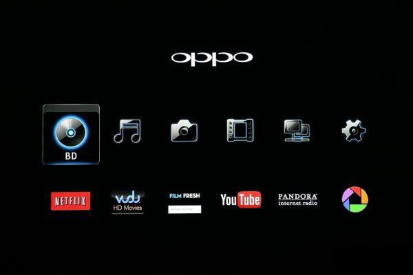 OPPO BDP-103EU 3D Blu-ray lejátszó menü