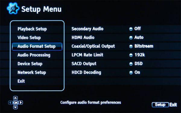 OPPO BDP-93EU audió beállítás