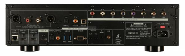 OPPO UDP-205 4K Blu-ray lejátszó hátlap