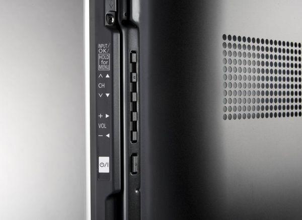 Panasonic VT60 3D plazma TV oldalapi csatlakozók