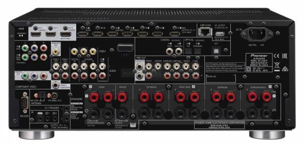 Pioneer SC-LX58 Dolby Atmos házimozi erősítő hátlap