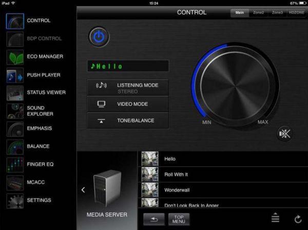 Pioneer SC-LX58 Dolby Atmos házimozi erősítő remote App