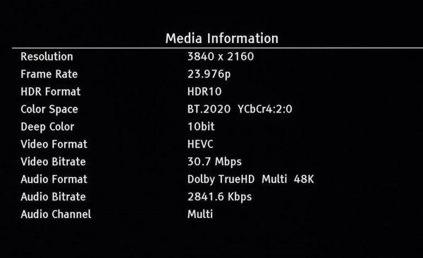 Pioneer UDP-LX500 Blu-ray lejátszó OSD menü