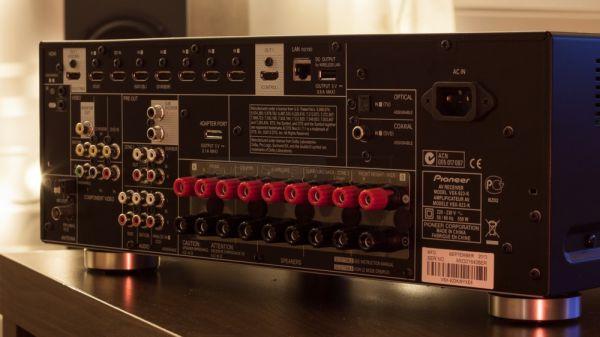 Pioneer VSX-923 házimozi erősítő hátlap