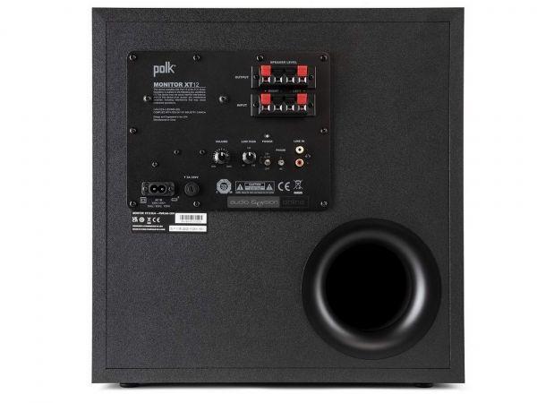 Polk Audio Monitor XT12 aktív mélyláda hátlap