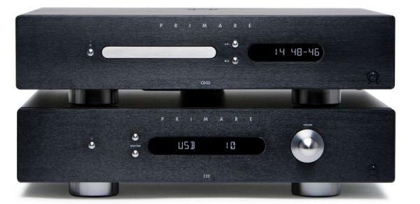 Primare I22 integrált sztereó erősítő és CD22 CD-lejátszó fekete színben