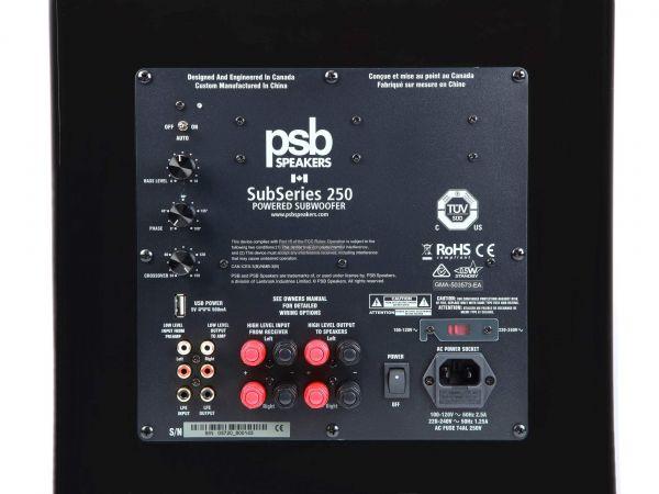 PSB SubSeries 250 aktív mélyláda hátlap