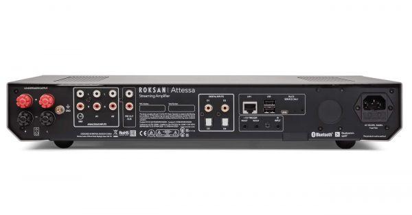 Roksan Attessa Streaming Amplifier hifi erősítő hátlap