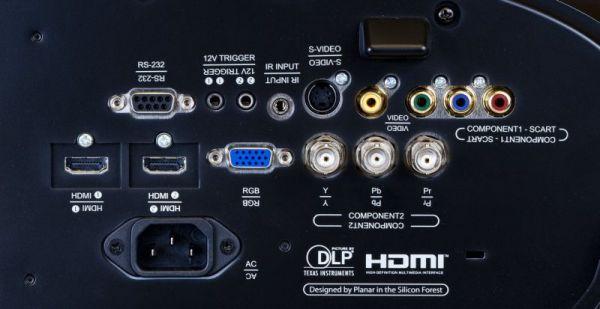 Runco LightStyle LS-5 házimozi projektor hátlap