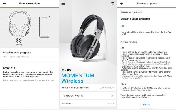 Sennheiser MOMENTUM 3 Wireless App